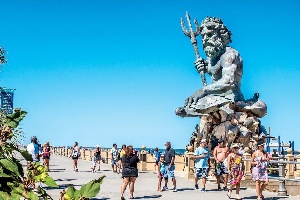 Monuments Along the Virginia Beach Boardwalk