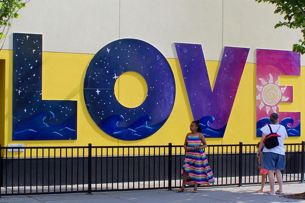 Atlantic Avenue LOVE Art